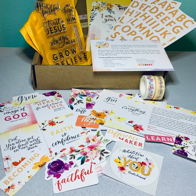 The new Bible Journaling kit from DaySpring.com.